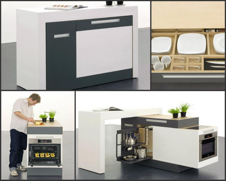 Small Type Kitchen: Modular kitchen for space-cramped ...
