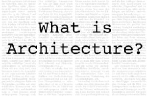 what-is-architecture
