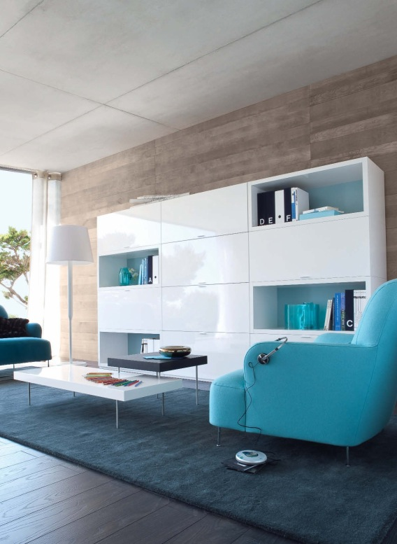 white-shelf-blue-sofas